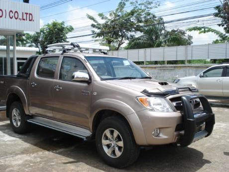 new Toyota Hilux Vigo Double Cab with A-bar at Thailand's top Toyota Hilux Vigo dealer Jim Autos Thailand